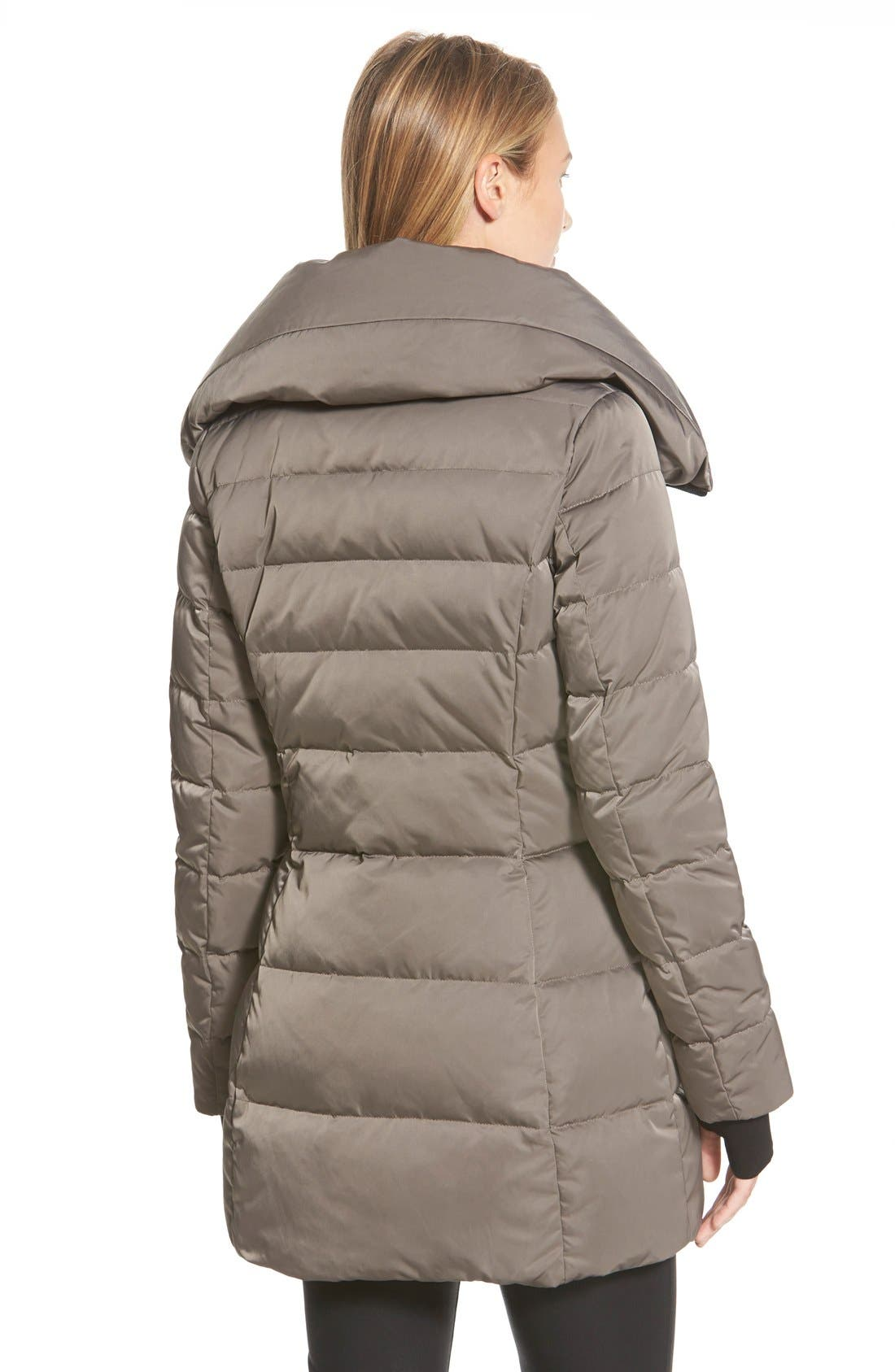 Alternate Image 2  - Vera Wang 'Blaire' Asymmetrical Quilted Coat