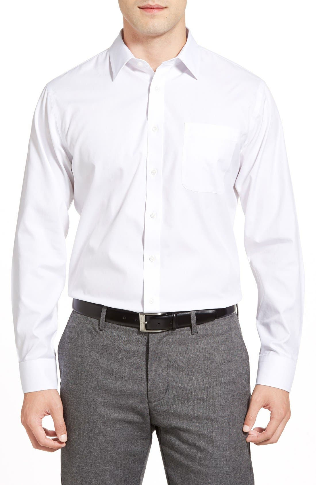 Alternate Image 2  - Nordstrom Men's Shop Smartcare™ Trim Fit Solid Dress Shirt
