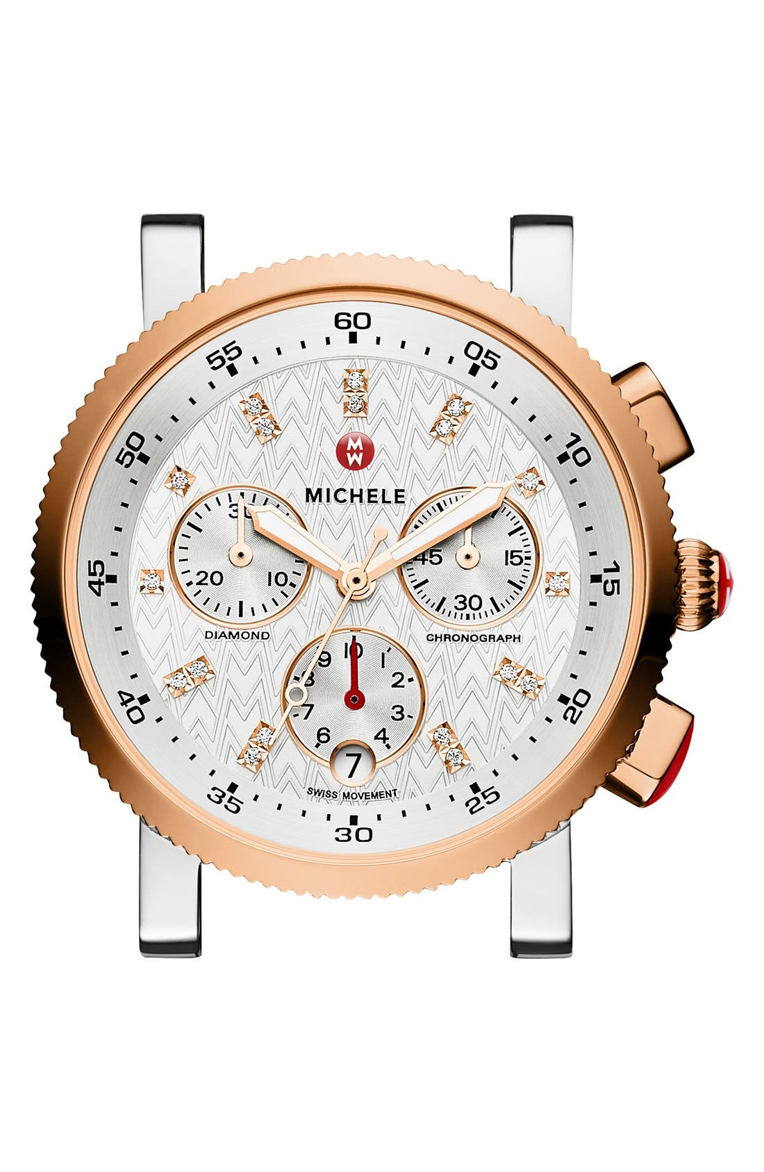 MICHELE Sport Sail Chronograph Watch Head, 38mm