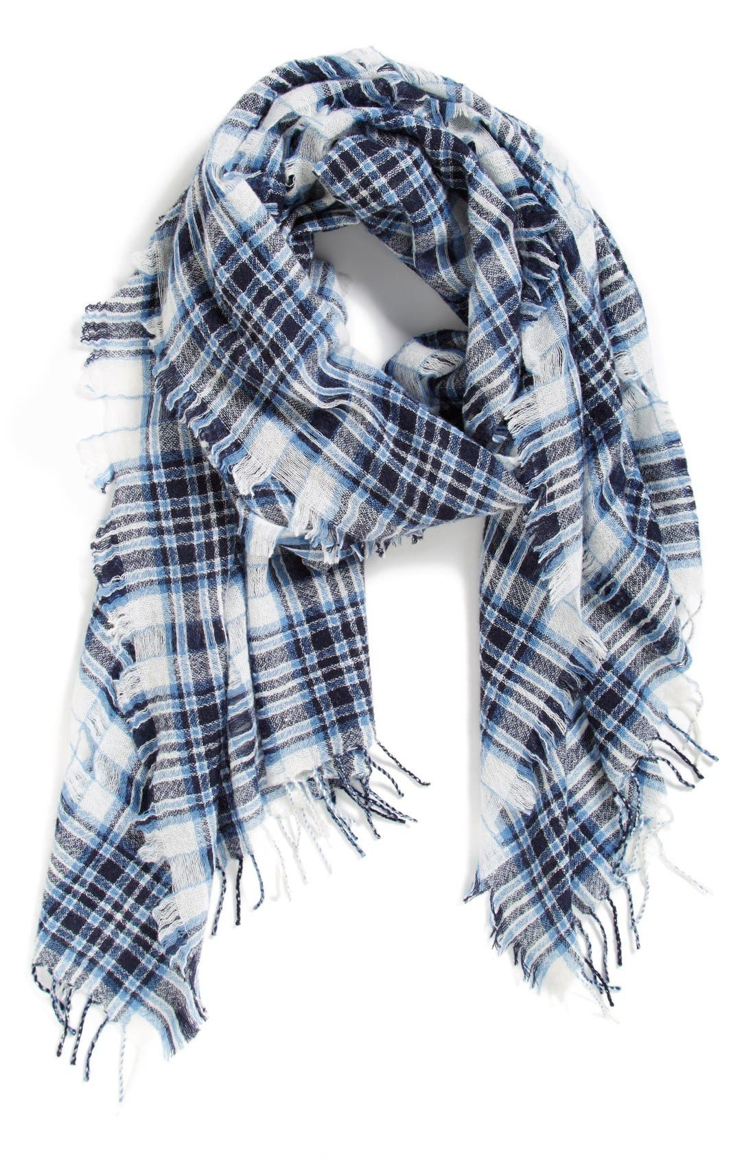 Alternate Image 1 Selected - Madewell'Fulton Plaid' Open Weave Scarf