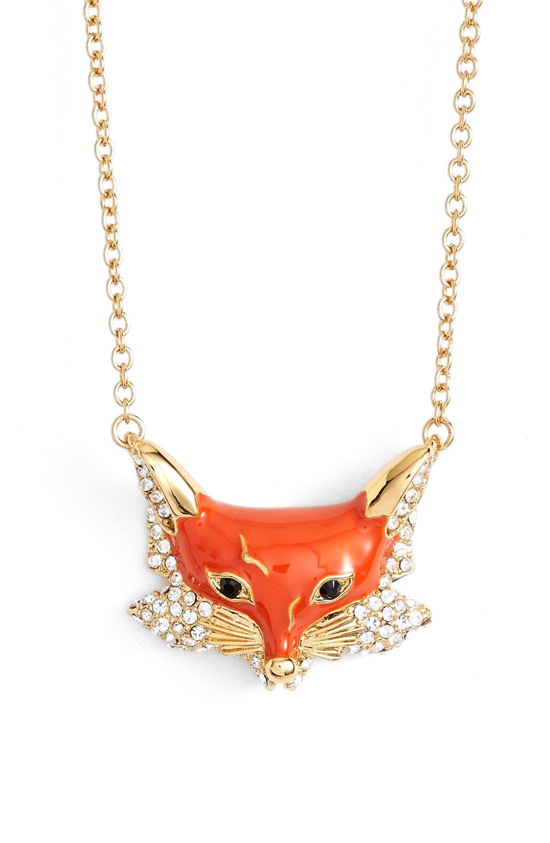 Main Image - kate spade new york 'into the woods - fox' pendant necklace