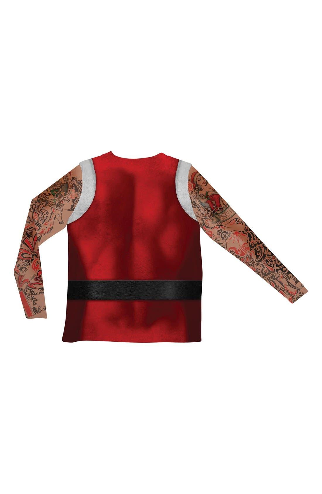 Alternate Image 2  - FauxReal 'Tattoo Santa' Novelty Graphic T-Shirt (Men)