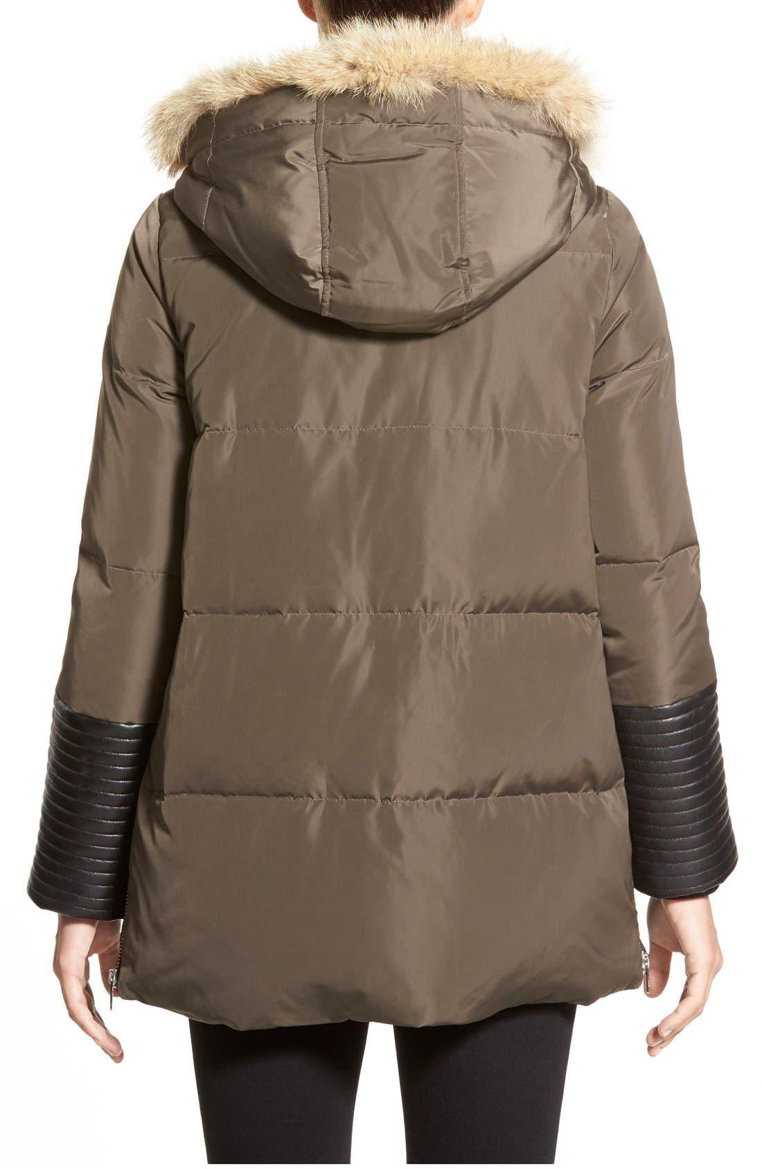 Alternate Image 2  - Rudsak 'Cally' Leather & Genuine Coyote Fur Trim Down Coat