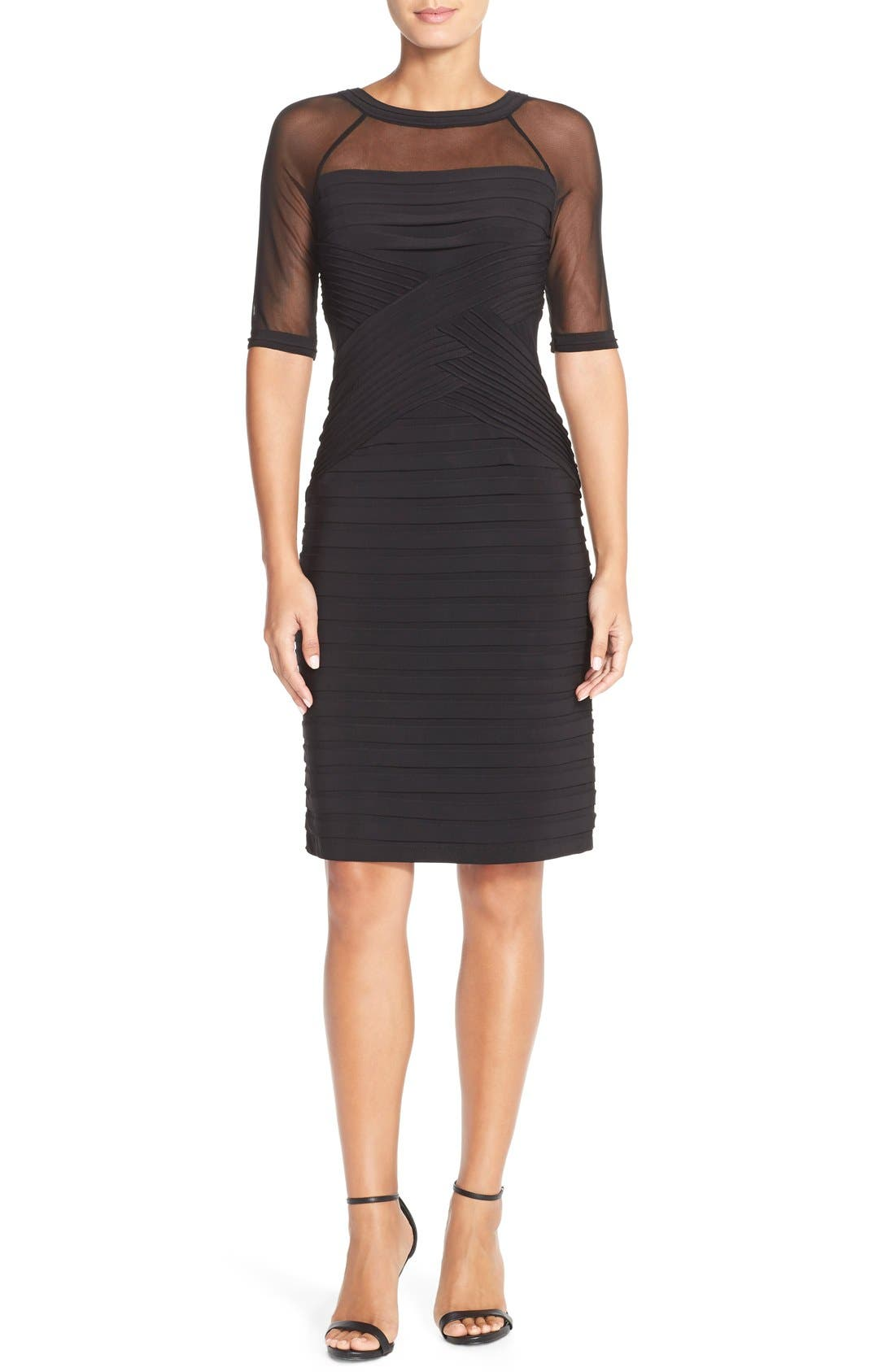 Alternate Image 3  - Adrianna PapellIllusion Pleated Jersey Shift Dress