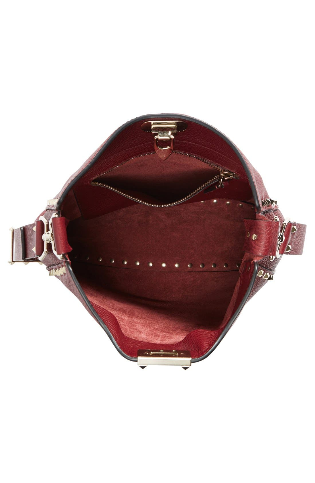 Alternate Image 3  - Valentino 'Small Rockstud' Leather Hobo Bag