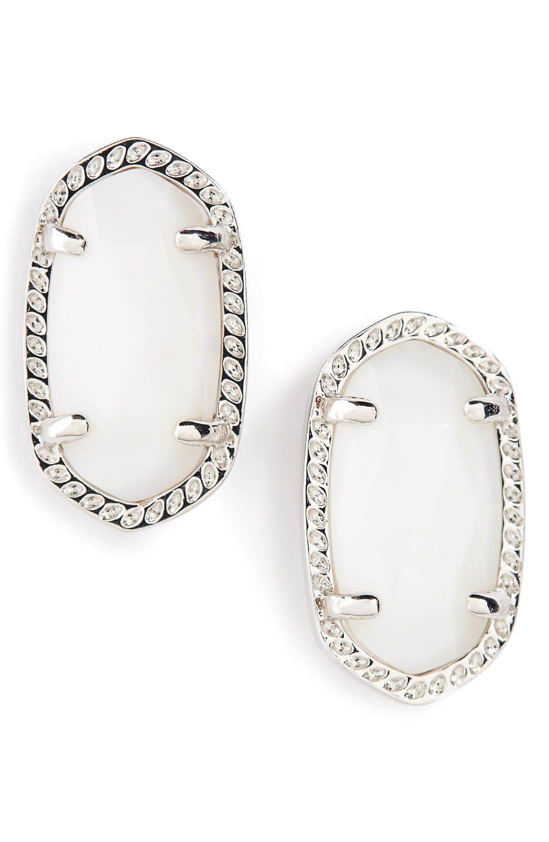 Main Image - Kendra Scott Ellie Oval Stone Stud Earrings