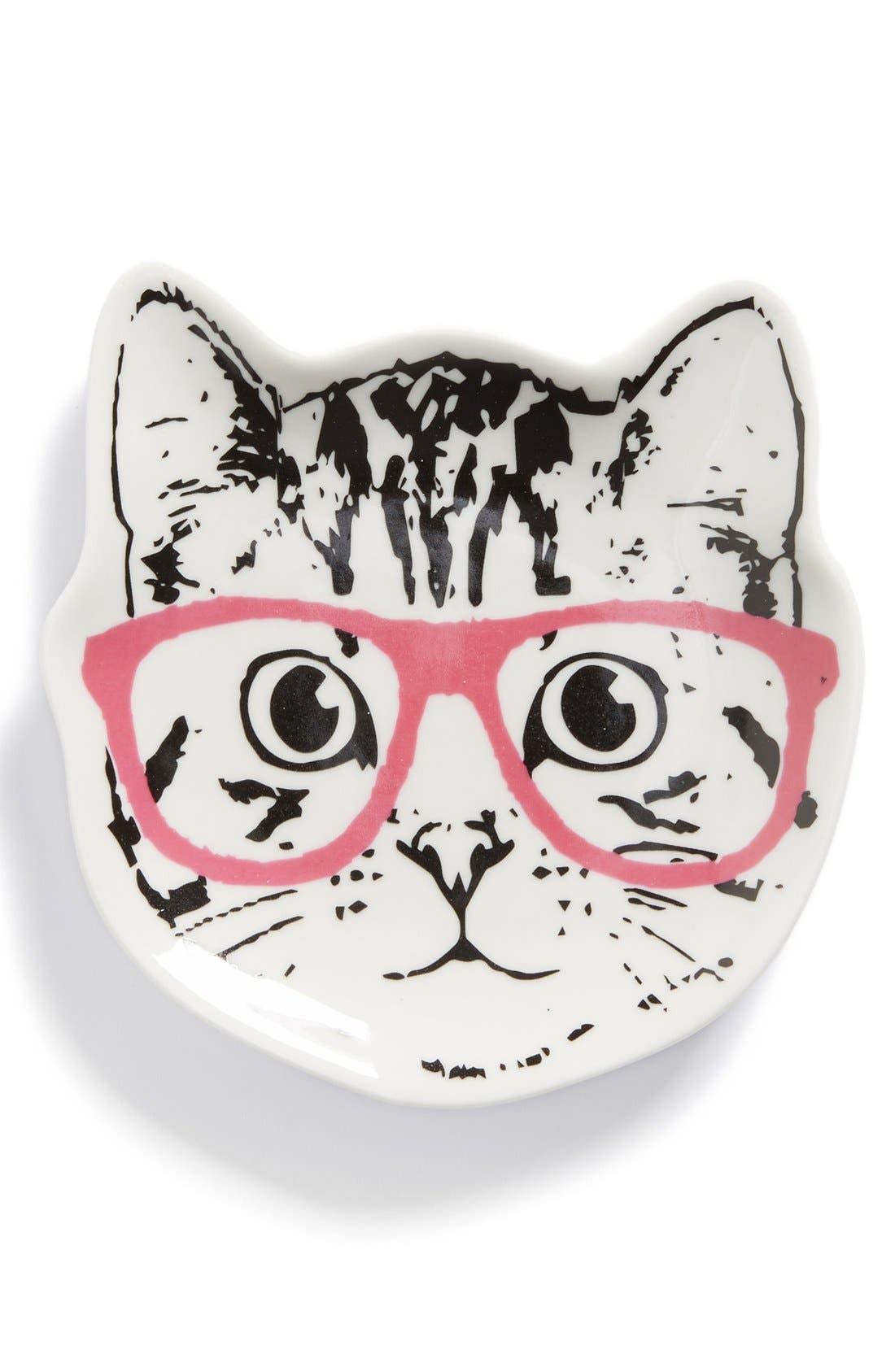 Main Image - Tri-Coastal Design 'Cat Glasses' Ceramic Trinket Tray