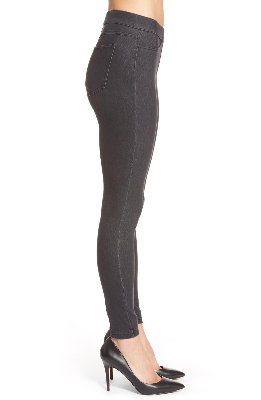 Alternate Image 3  - Hue Curvy Fit Jean Leggings