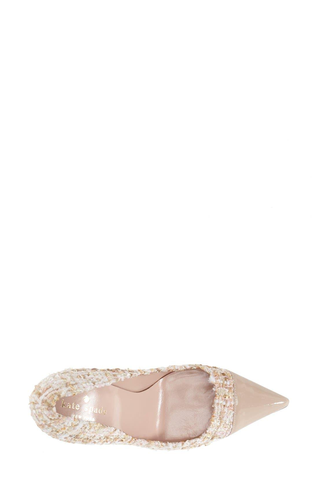Alternate Image 3  - kate spade new york 'lacy' pointy toe pump (Women)