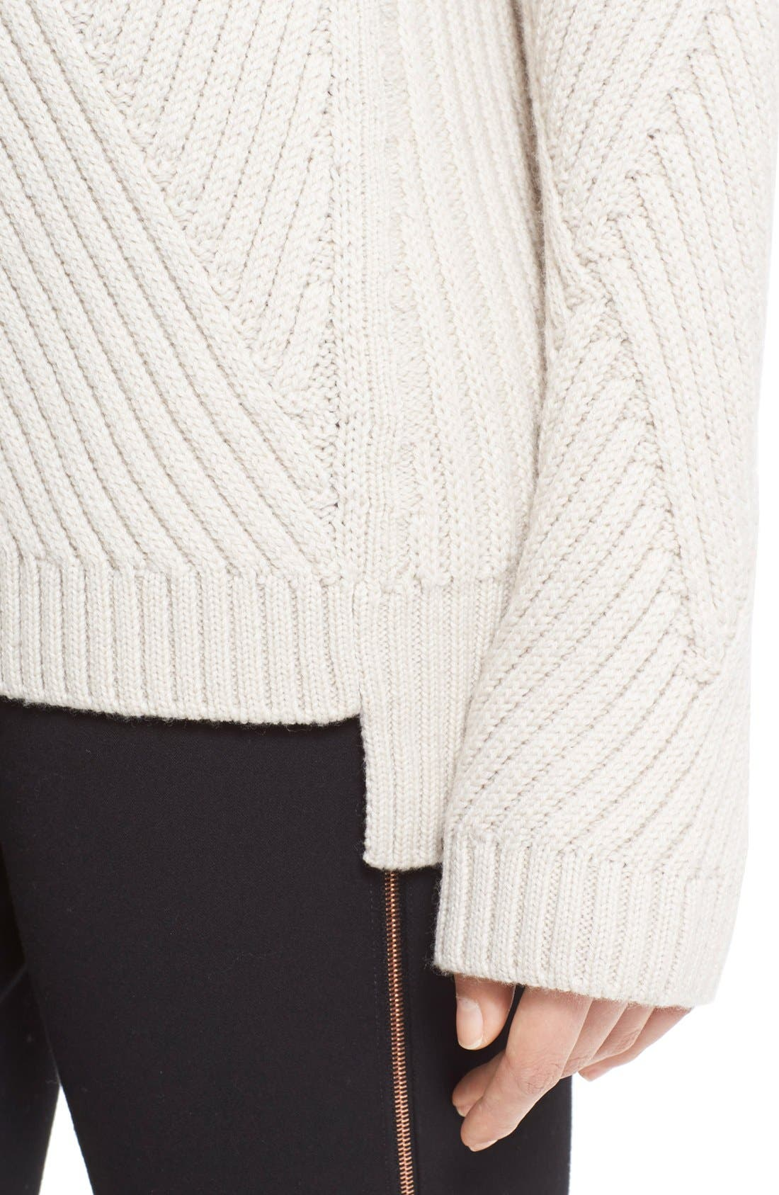 Alternate Image 4  - rag & bone 'Blithe' Merino Wool Turtleneck Sweater