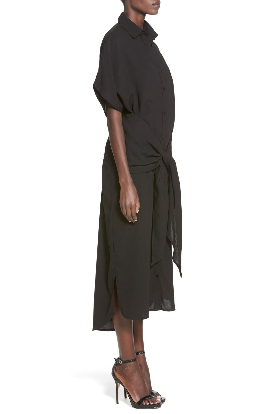 Alternate Image 3  - C/MEO Collective 'No Limit' Tie Front Midi Shirtdress