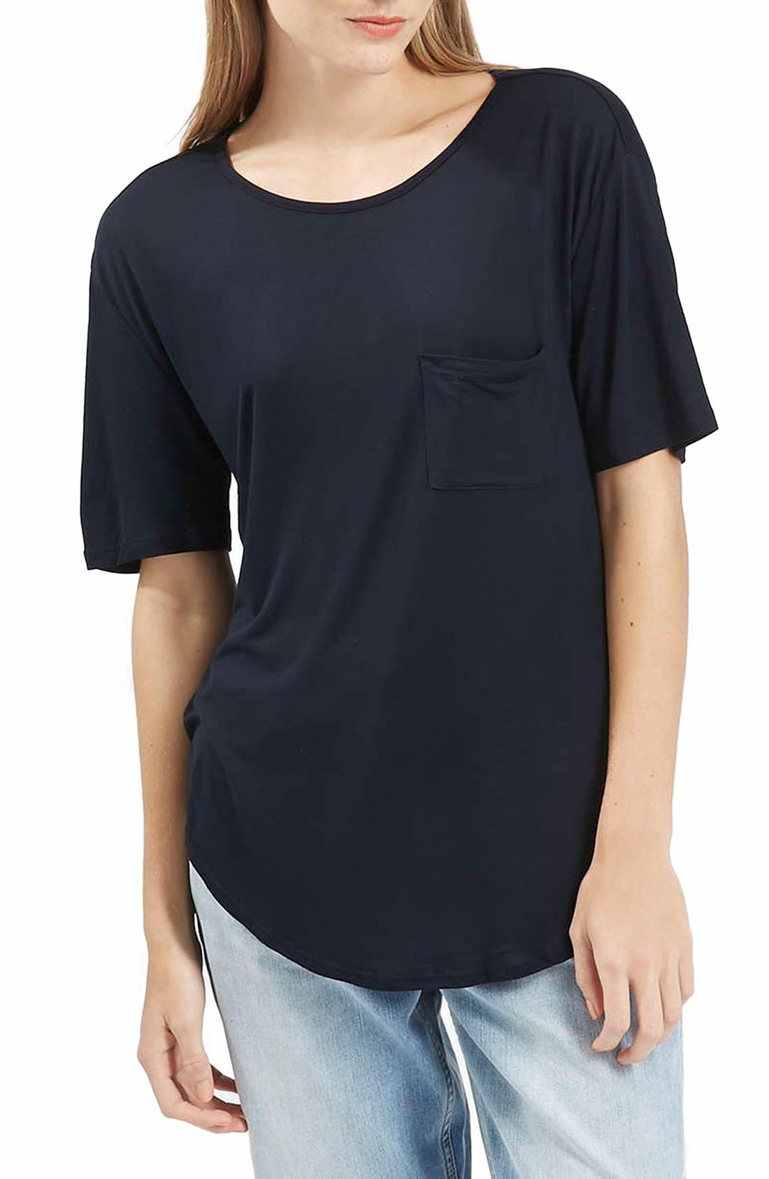 Alternate Image 1 Selected - Topshop Pocket Tee