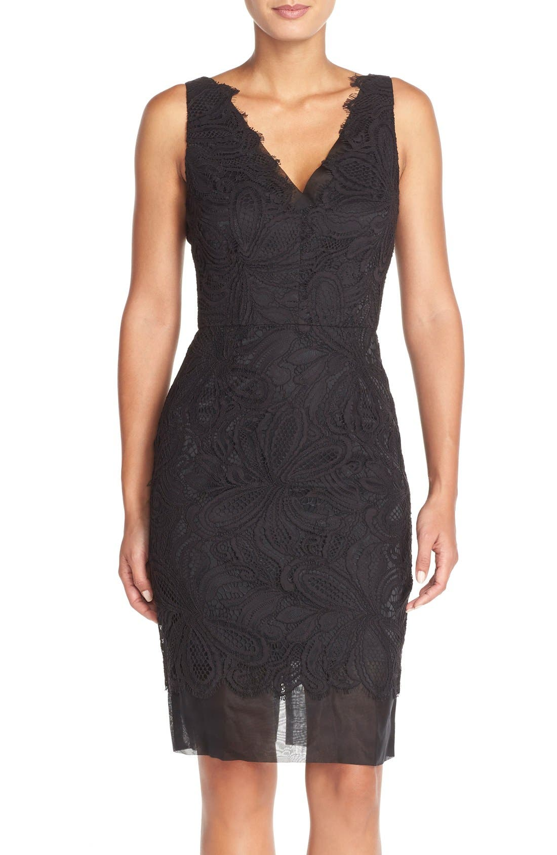 Alternate Image 1 Selected - Trina Turk 'Agni' Lace Sheath Dress
