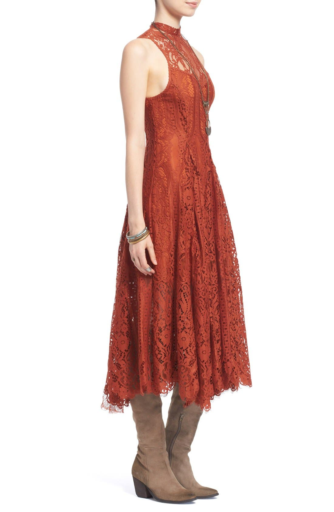 Alternate Image 3  - Free People 'Angel Rays' Trapeze Midi Dress