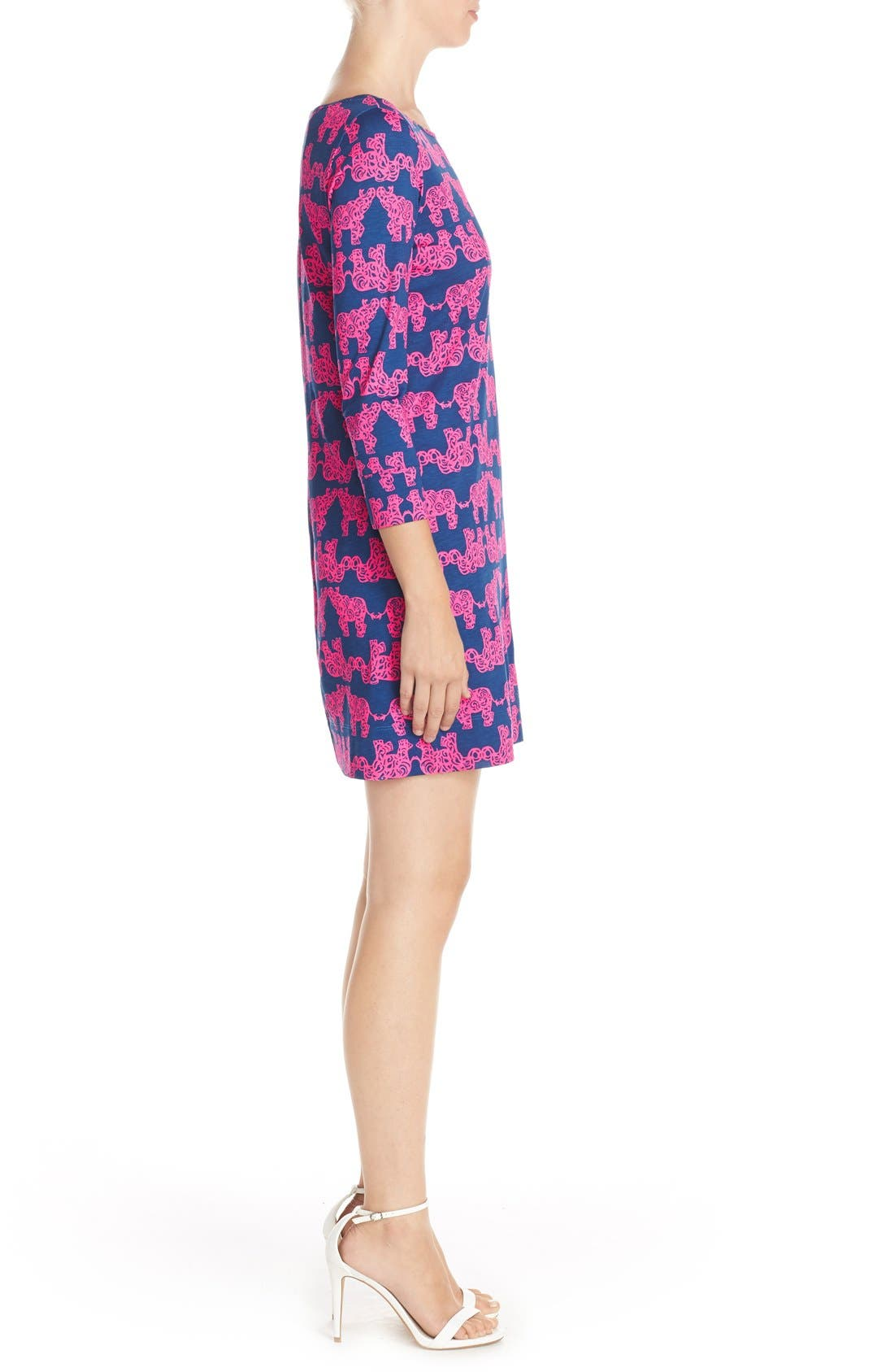 Alternate Image 3  - Lilly Pulitzer® 'Marlowe' Elephant Print Pima Cotton Minidress