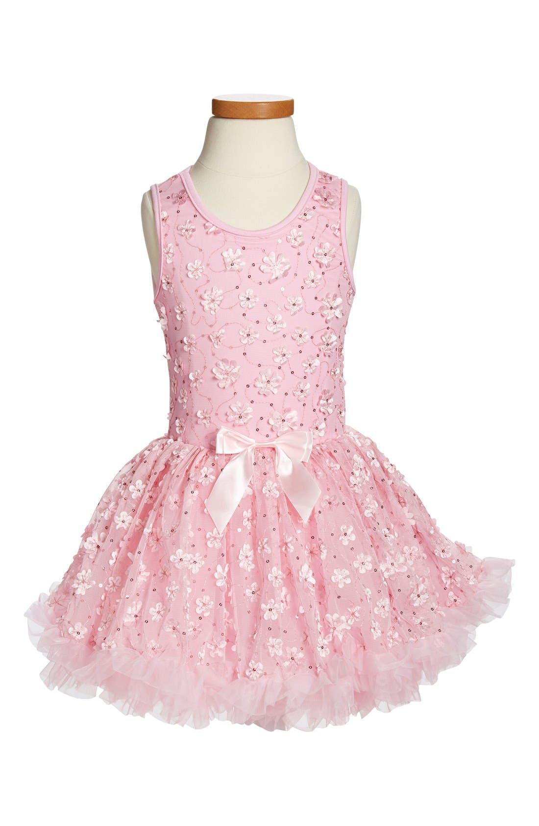 POPATU Ribbon Rosette Flower Dress