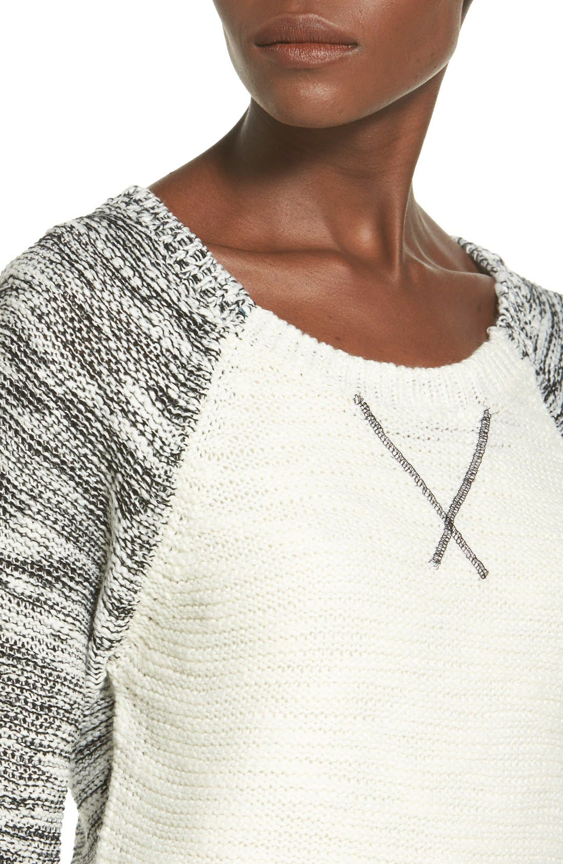 Alternate Image 4  - Derek Heart Marled Colorblock Raglan Sweater