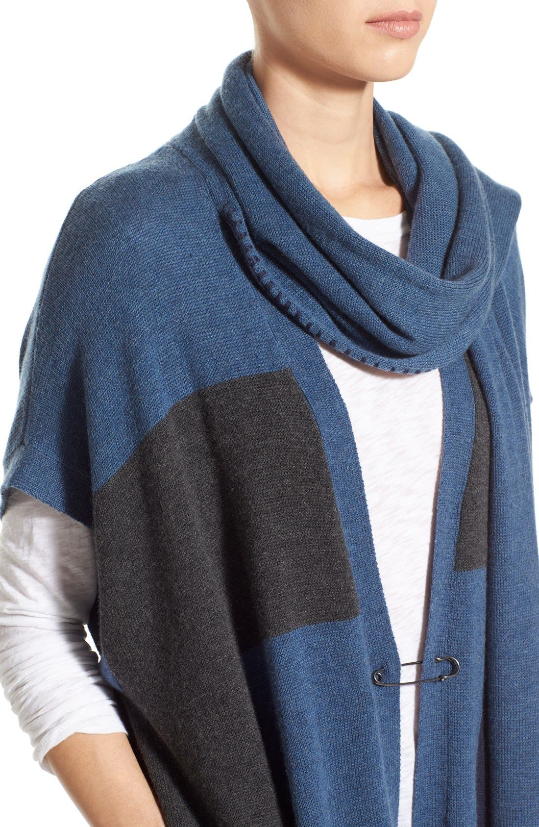 Alternate Image 4  - Paige Denim 'Ruth' Long Open Cardigan with Attached Scarf