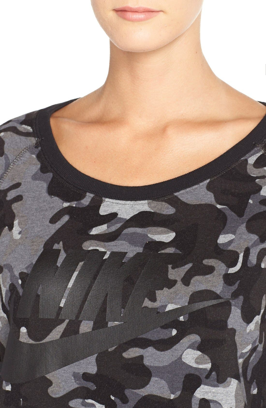 Alternate Image 3  - Nike 'Rally AOP' Cotton Blend Pullover