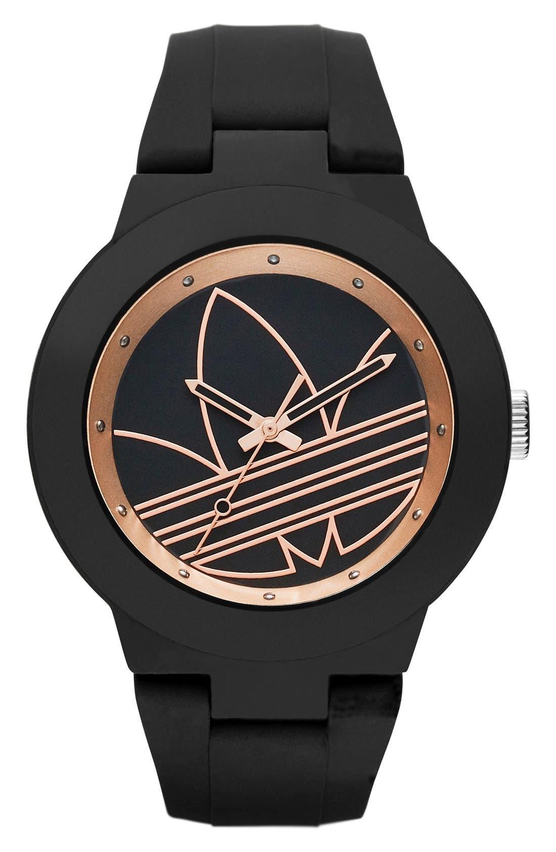 Main Image - adidas Originals 'Aberdeen' Silicone Strap Watch, 41mm