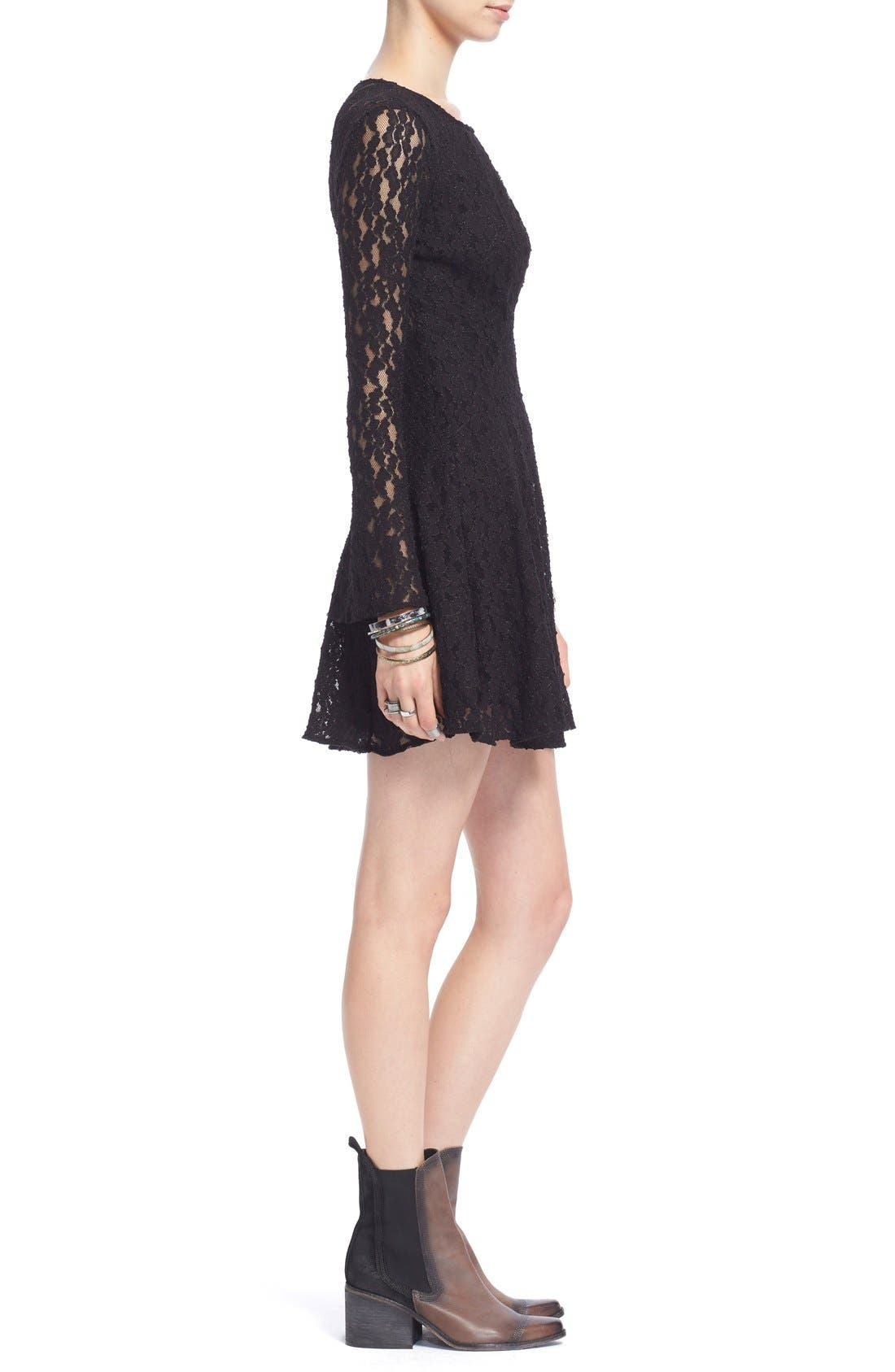Alternate Image 3  - Free People Corded Lace Fit & Flare Dress