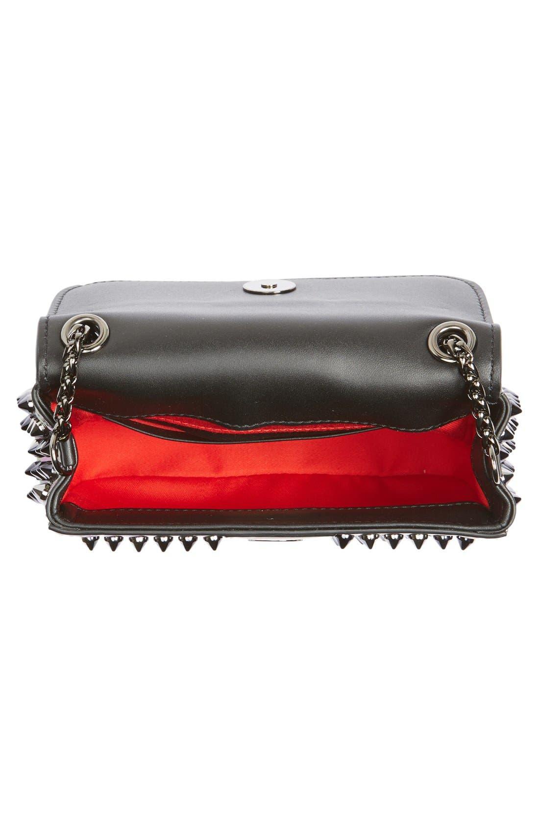 Alternate Image 4  - Christian Louboutin'SweetCharity' Spiked Calfskin Shoulder Bag