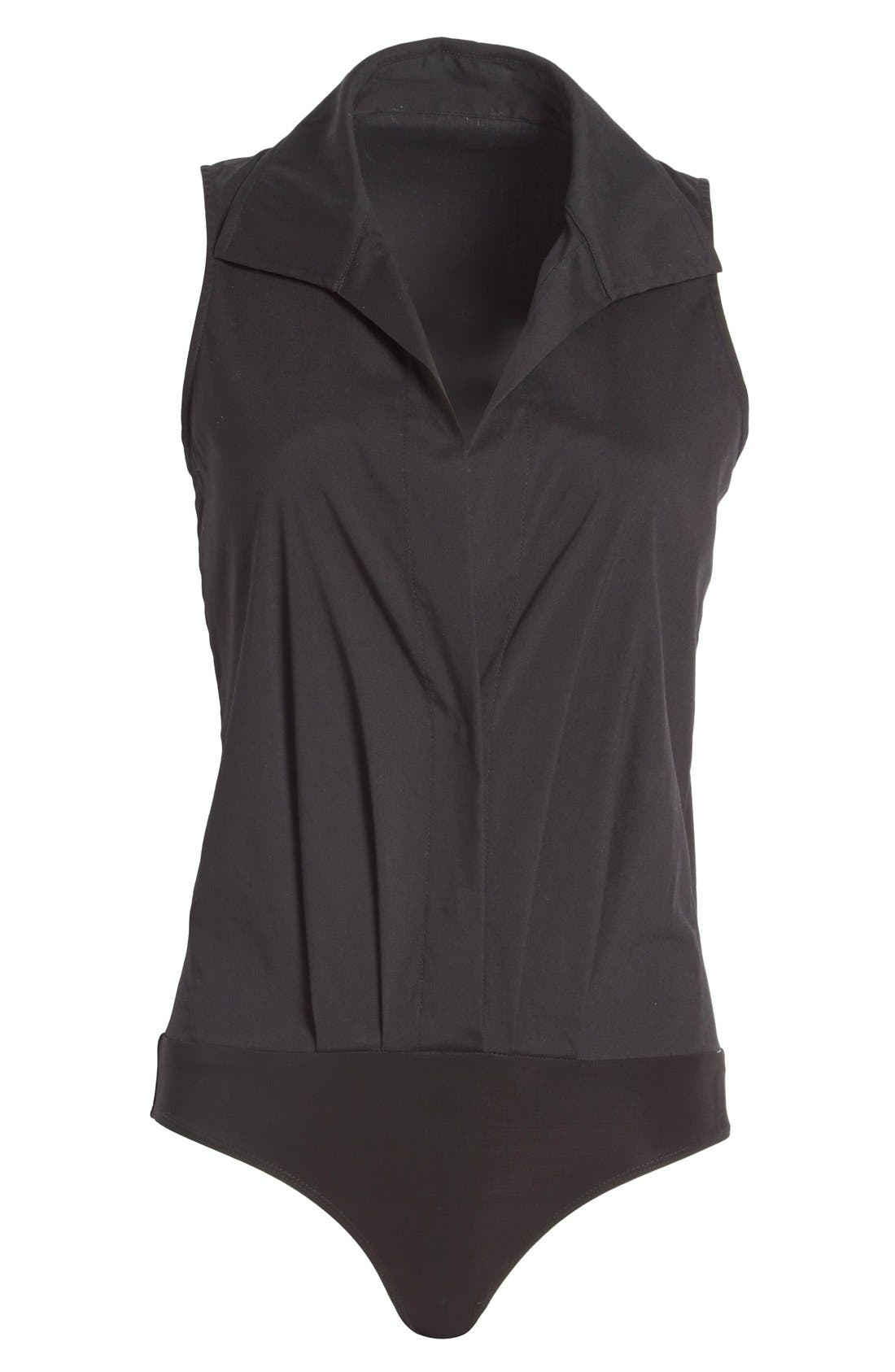 Alternate Image 4  - Donna KaranNew York SleevelessStretch Cotton Bodysuit