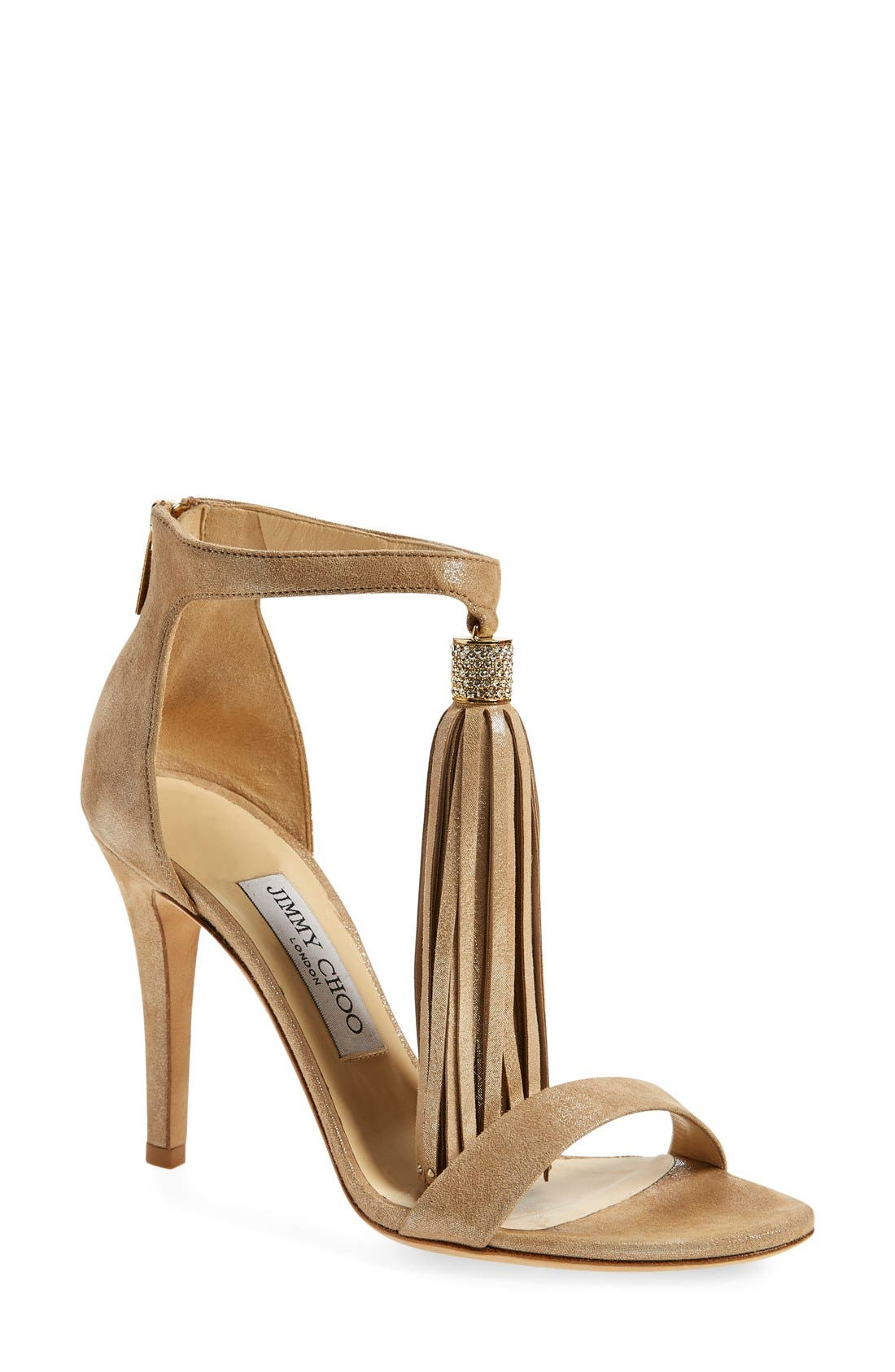 Alternate Image 1 Selected - Jimmy Choo 'Viola' Ankle Strap Sandal (Women)