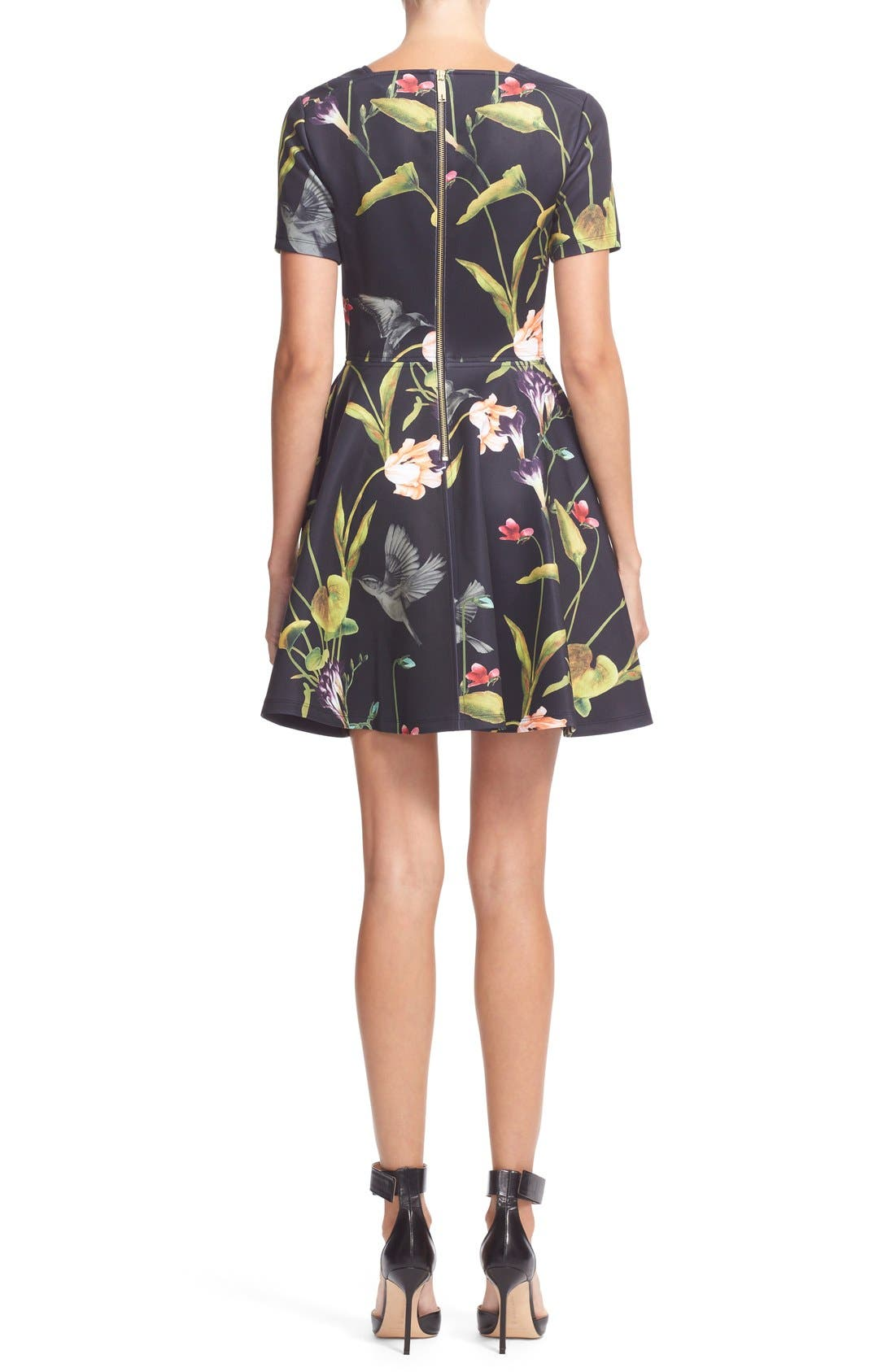 Alternate Image 2  - Ted Baker London 'Moven' Floral Print Skater Dress