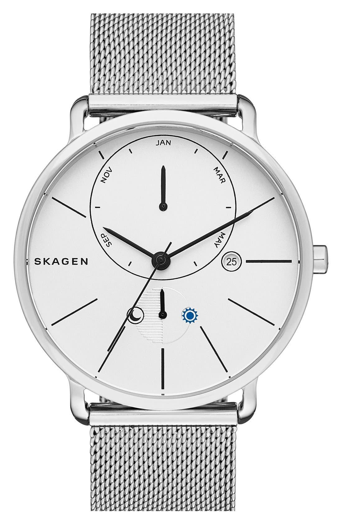 Main Image - Skagen 'Hagen' Mesh Strap Watch, 40mm