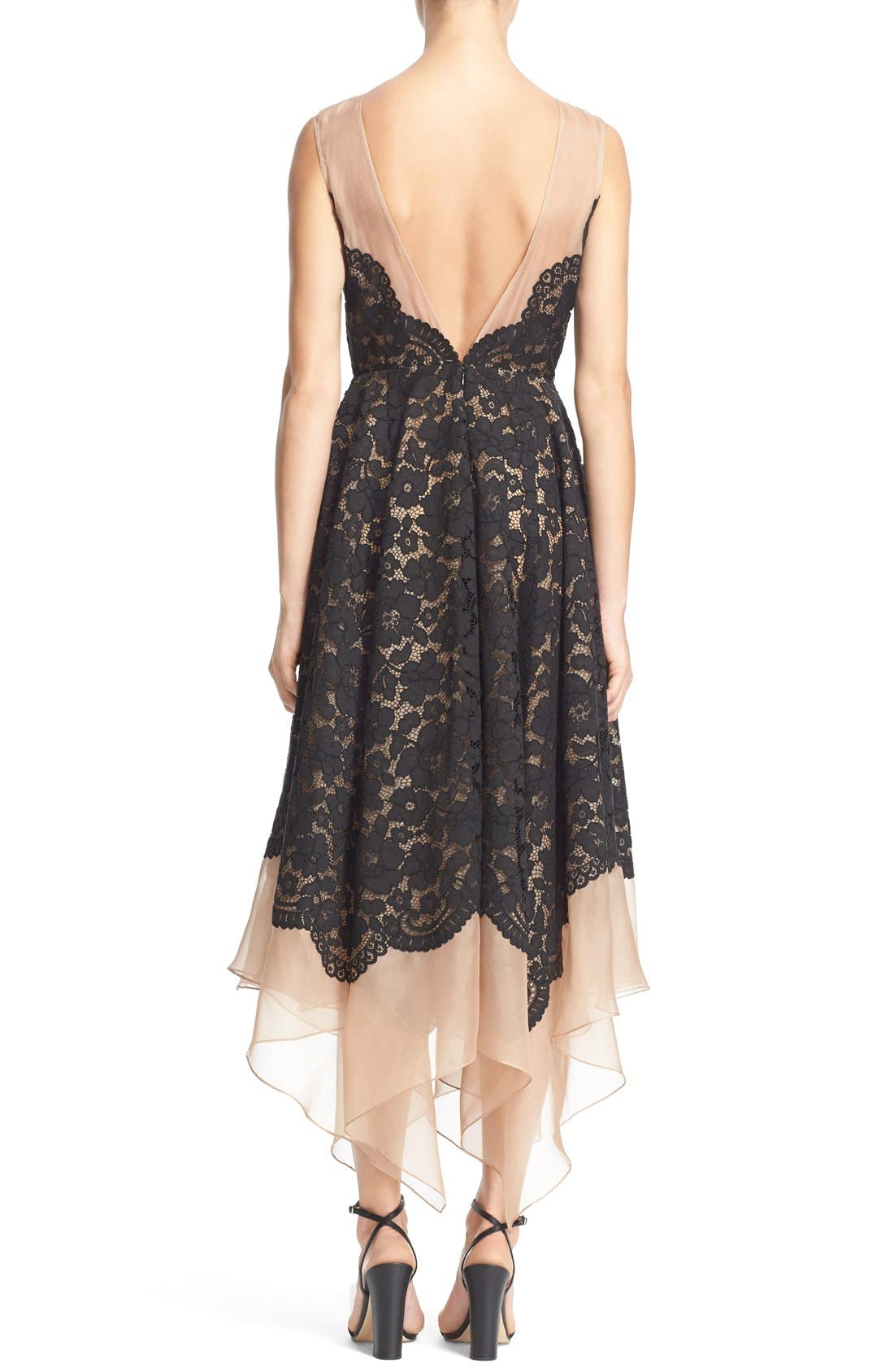 Alternate Image 2  - Tracy Reese Lace Overlay Handkerchief Illusion Dress