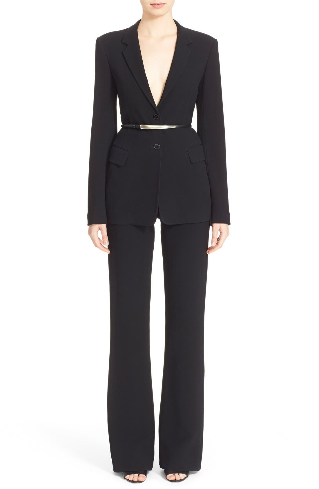 Alternate Image 6  - Donna Karan New York Element Hardware Belted Blazer