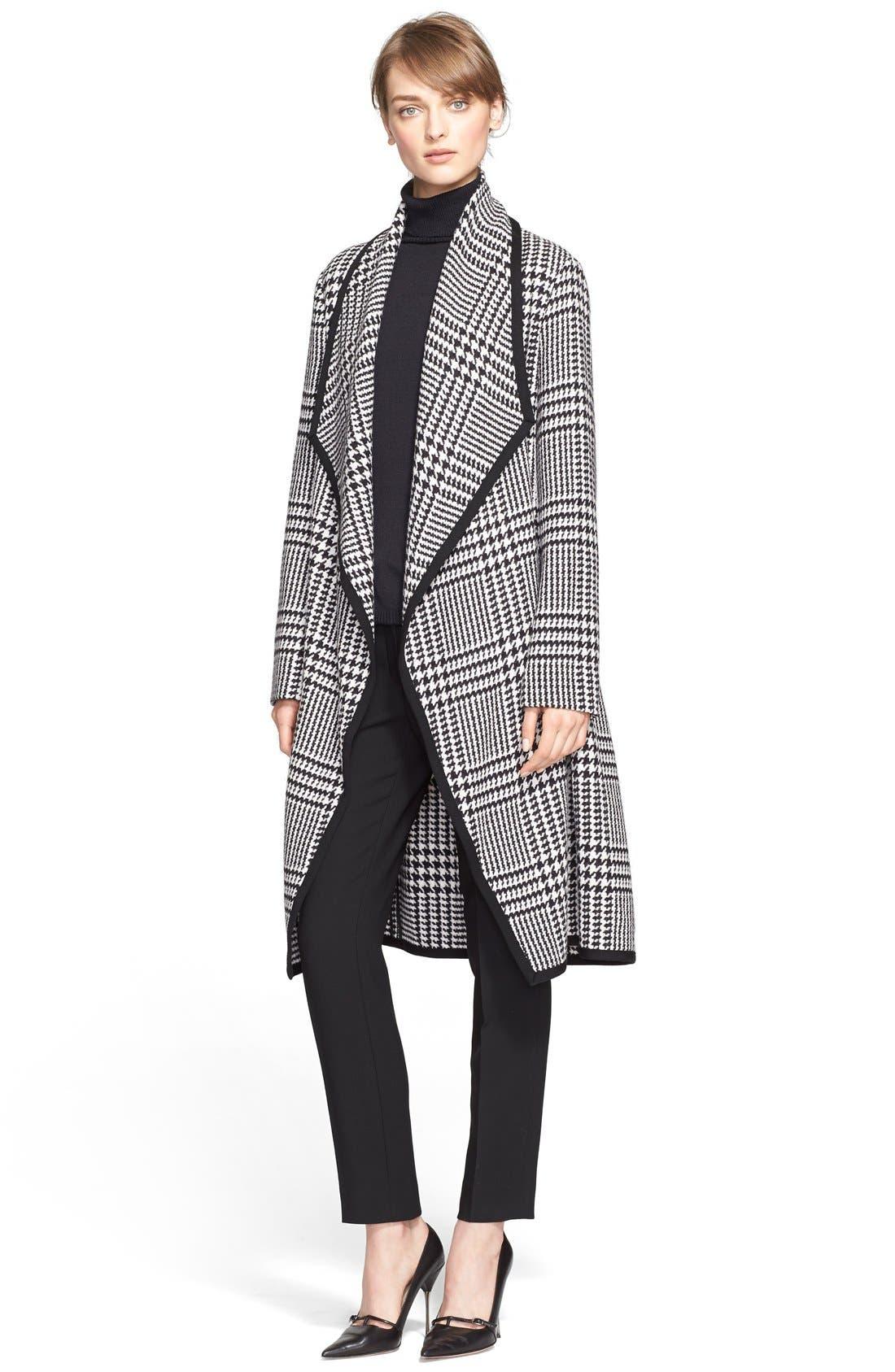 Alternate Image 3  - ESCADA Macro Houndstooth Stretch Wool Coat