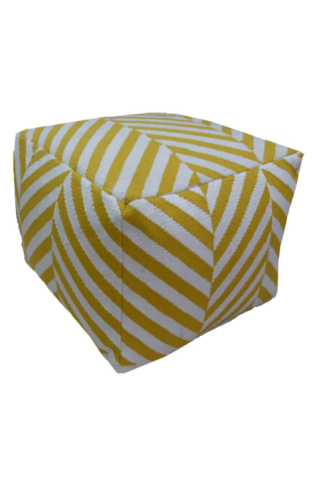Main Image - AM Home Textiles Wide Stripe Floor Pouf