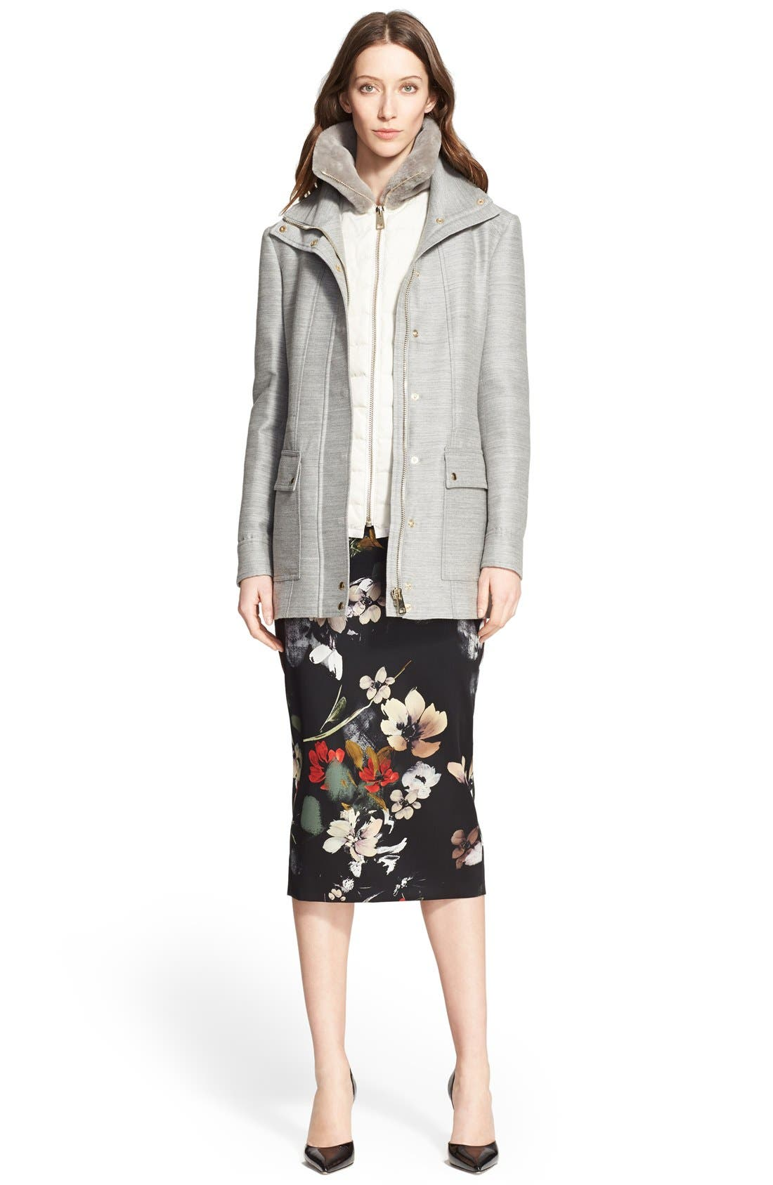 Alternate Image 6  - Nordstrom Signature and Caroline Issa 2-in-1 Parka with Genuine Shearling Collar
