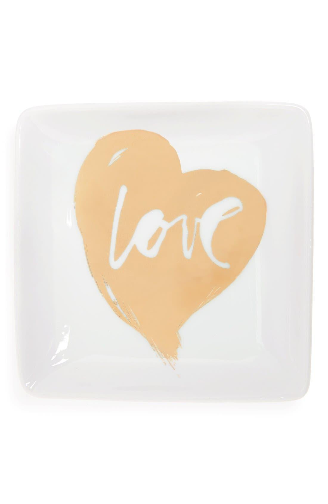 Main Image - Fringe Studio 'Love' Ceramic Trinket Tray