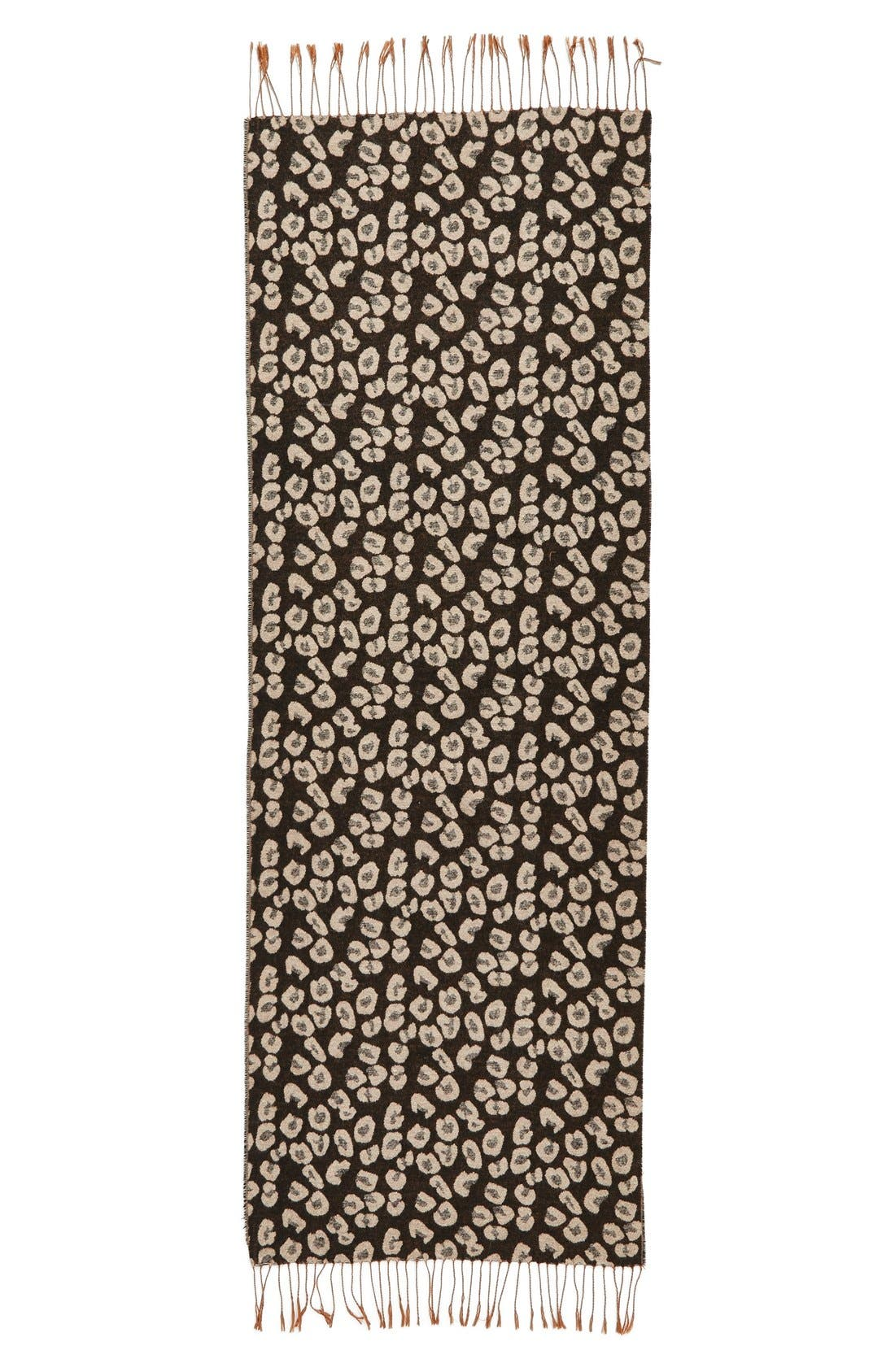 Alternate Image 2  - BP Leopard Print Fringe Oblong Scarf