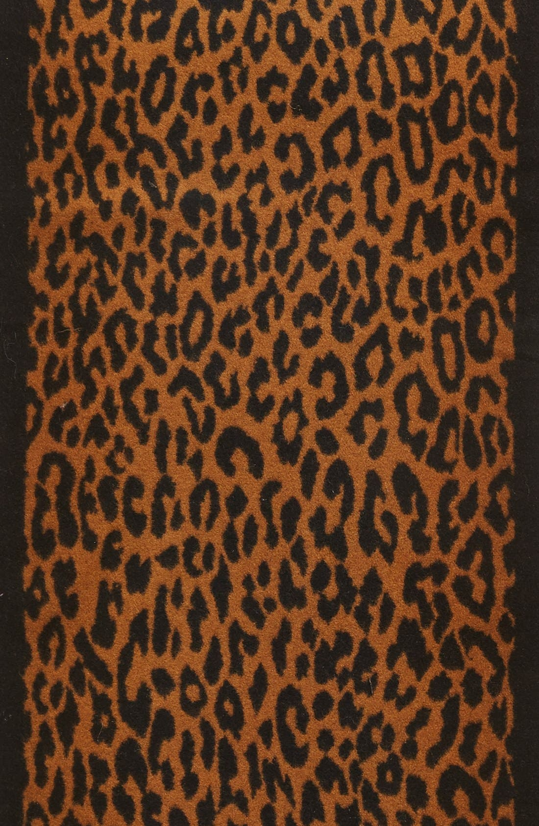 Alternate Image 2  - Chelsey Leopard Print Silk Infinity Scarf