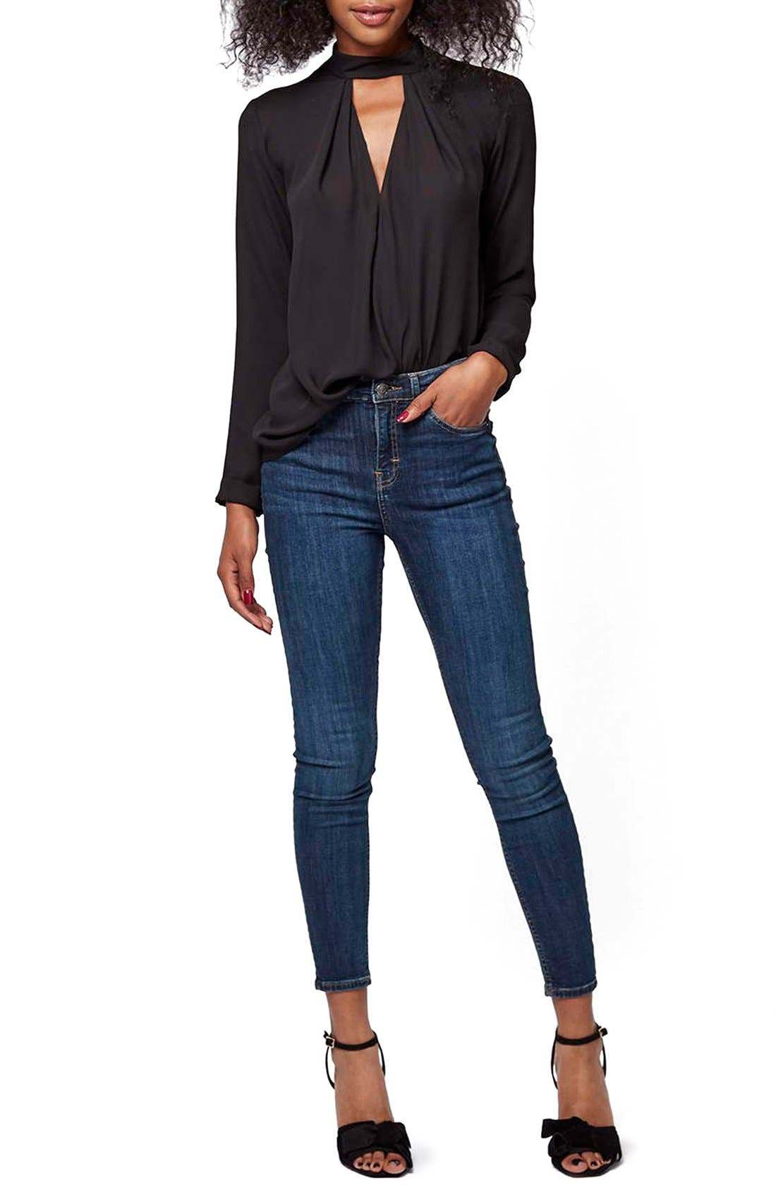 Alternate Image 2  - Topshop Front Cutout Long Sleeve Top