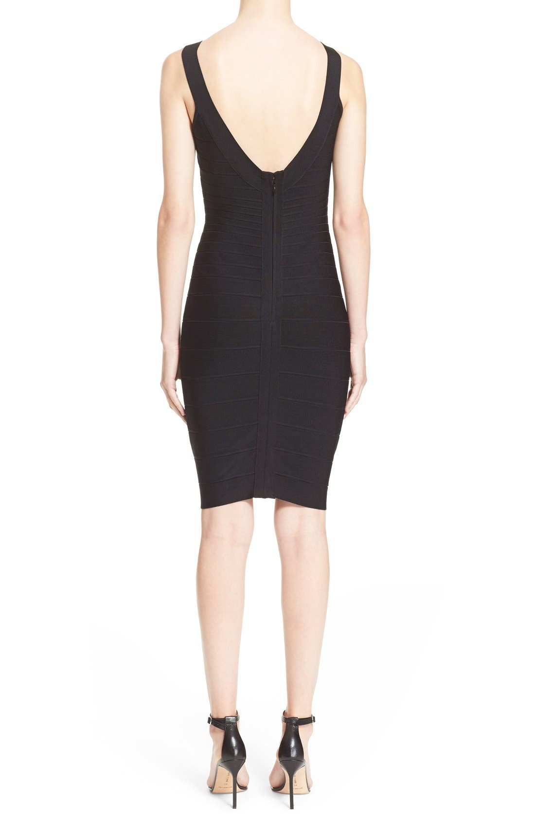 Alternate Image 2  - Herve Leger 'Sydney' U-Neck Bandage Dress