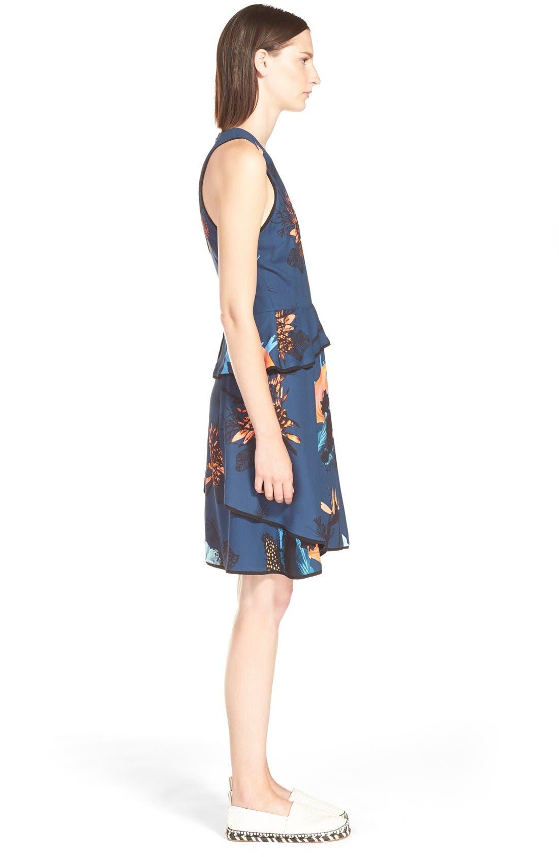 Alternate Image 4  - ProenzaSchoulerTropical Print Sleeveless Ruffle Dress
