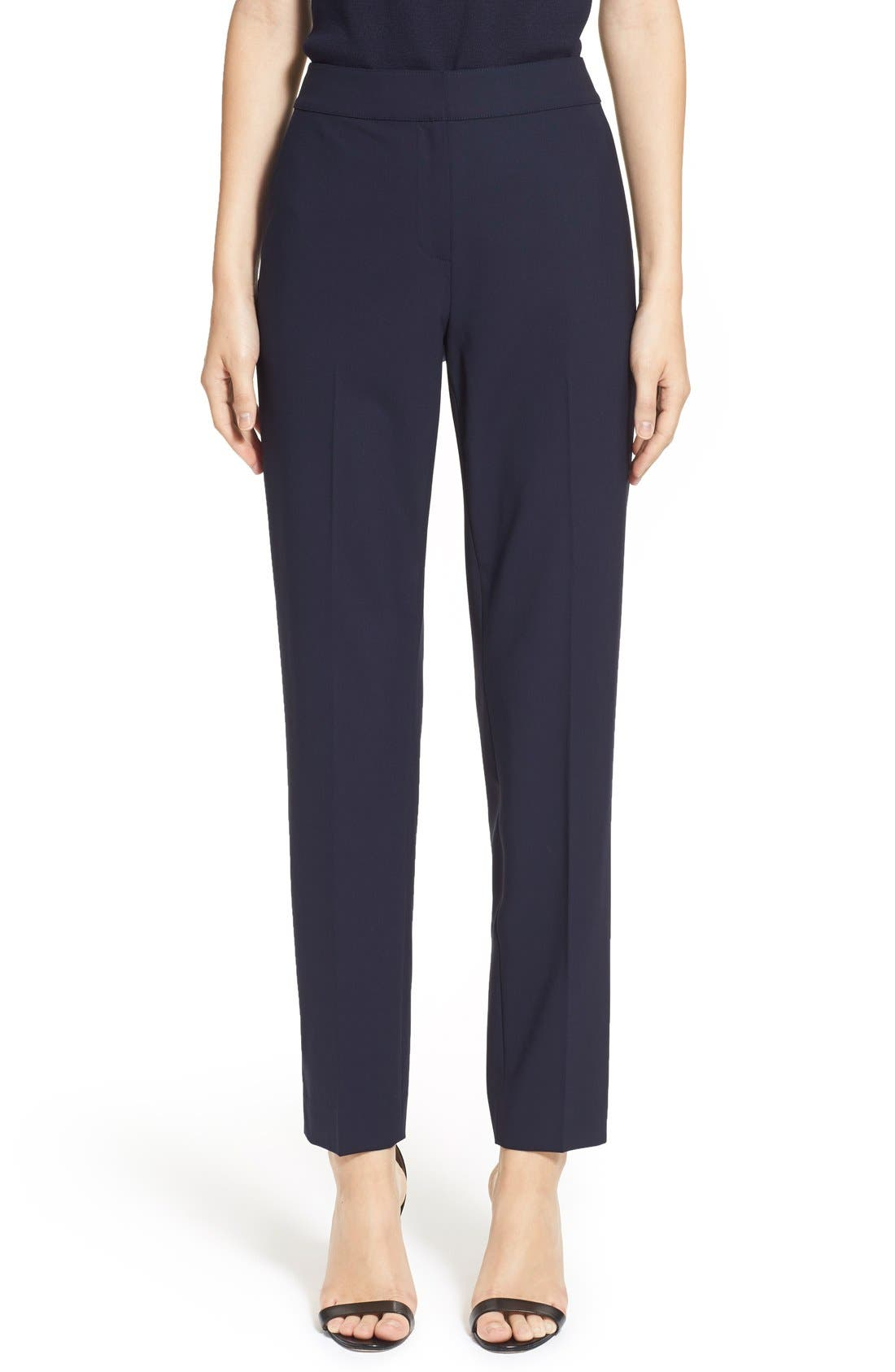 Main Image - St. John Collection 'Emma' Tropical Wool Crop Pants
