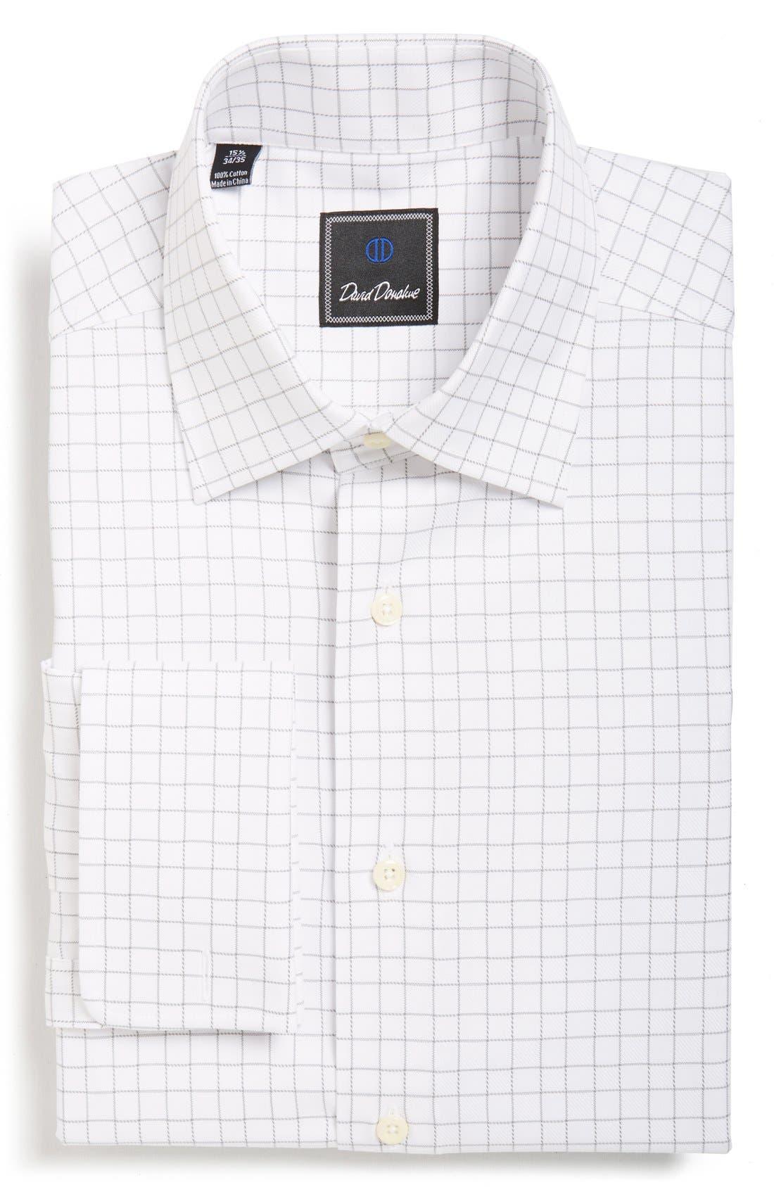 Alternate Image 1 Selected - David Donahue Regular Fit Windowpane PlaidDress Shirt