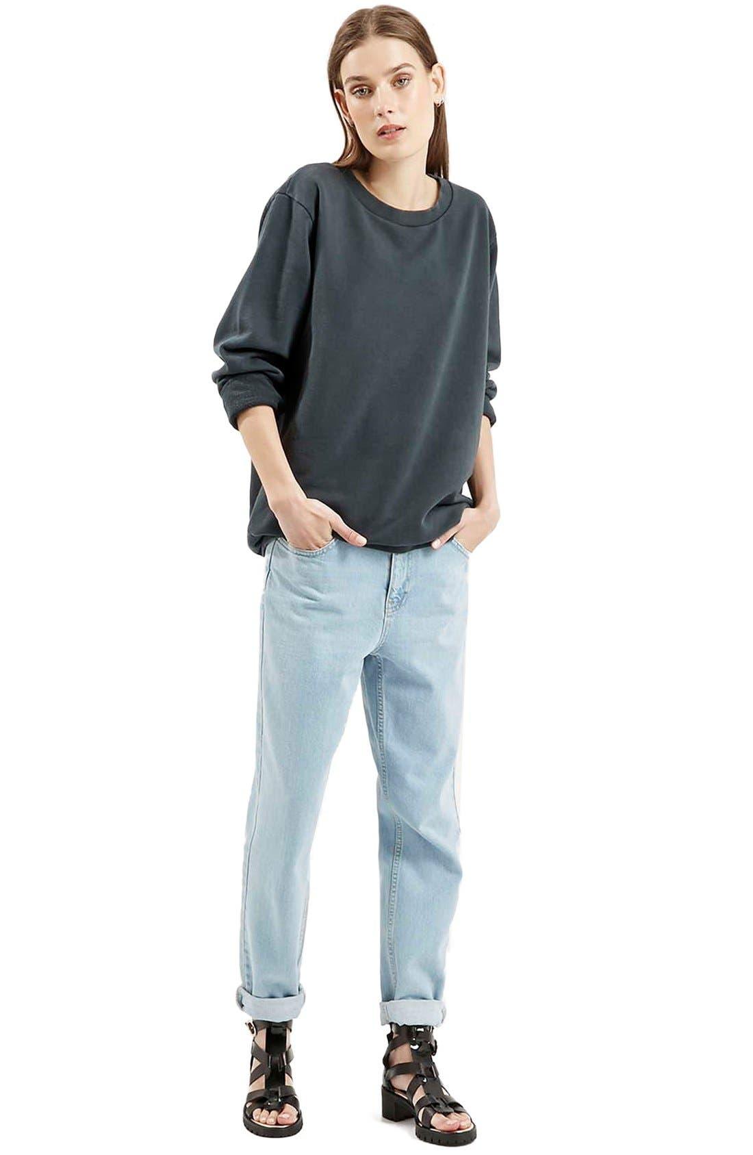 Alternate Image 2  - Topshop Washed '90s Sweatshirt
