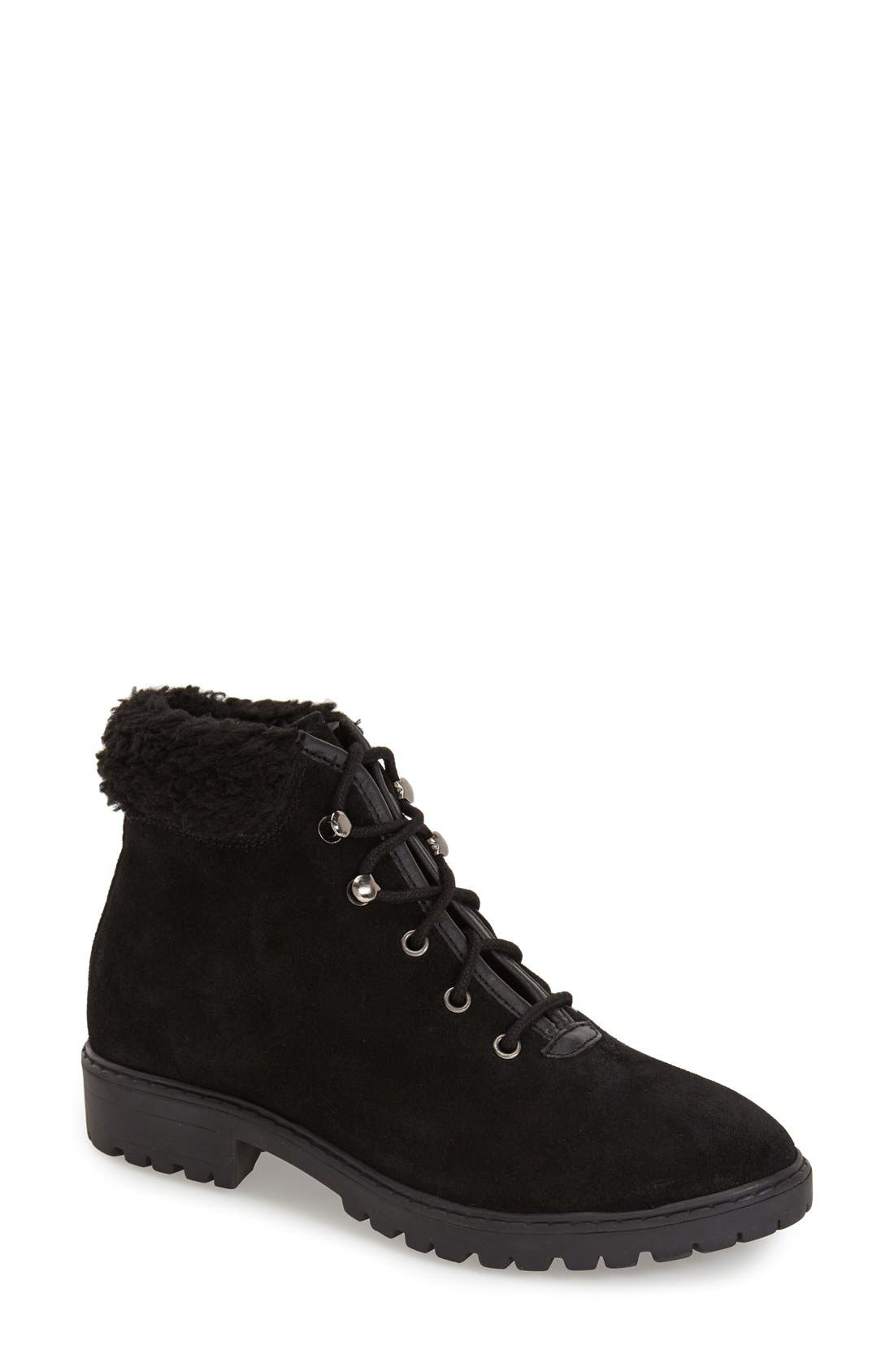 Alternate Image 1 Selected - Topshop 'Birdy' Lace-Up Boot (Women)