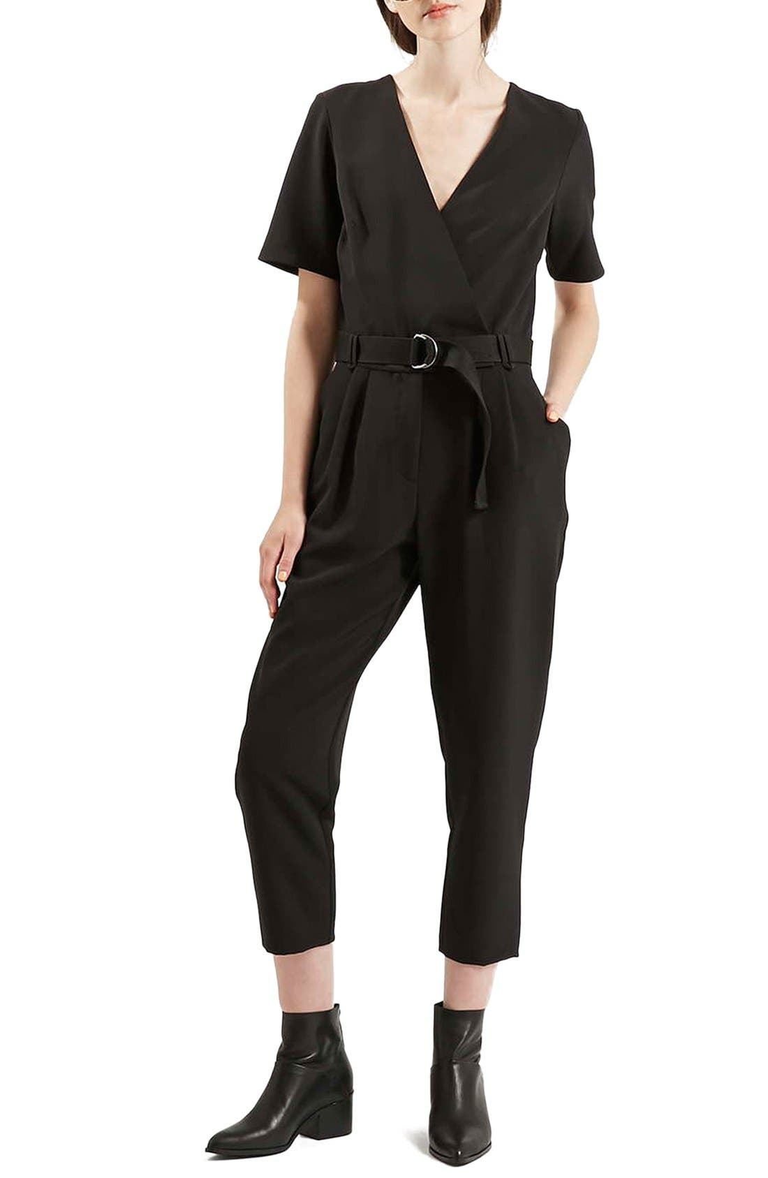 Alternate Image 1 Selected - Topshop Belted Jumpsuit