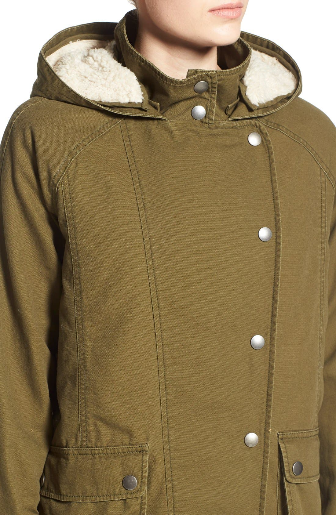 Alternate Image 4  - BP. Faux Shearling Lined Slouchy Jacket