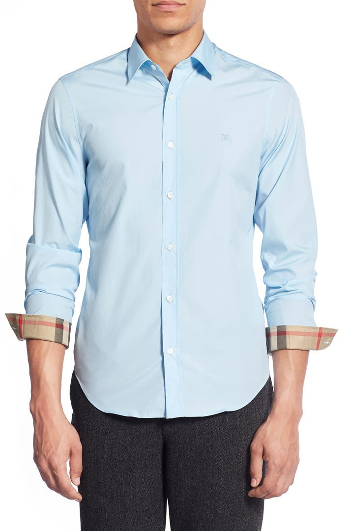 Burberry cambridge aboyd sport shirt nordstrom for White non iron dress shirts