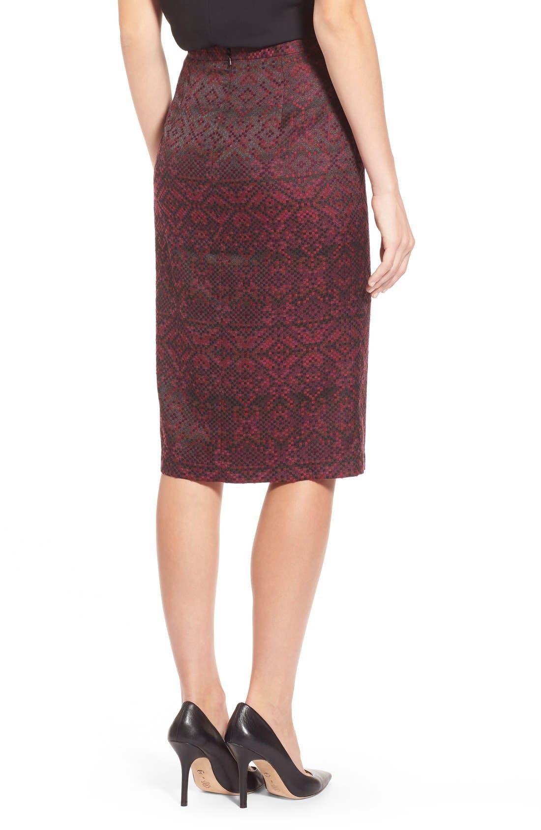 Alternate Image 2  - Halogen® Slit Front Pencil Skirt (Regular & Petite)