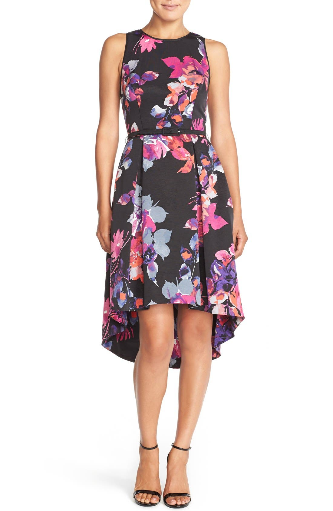 Alternate Image 4  - Vince Camuto Belted Faille Fit & Flare Dress